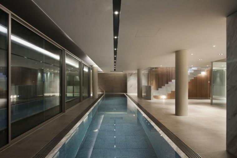 construccion piscinas dentro casa disenos simple ideas