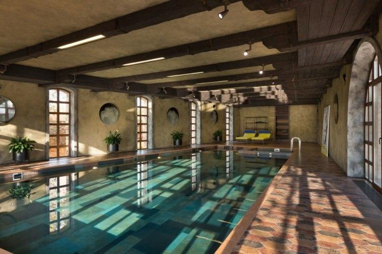 construccion piscinas dentro casa disenos ventanas ideas