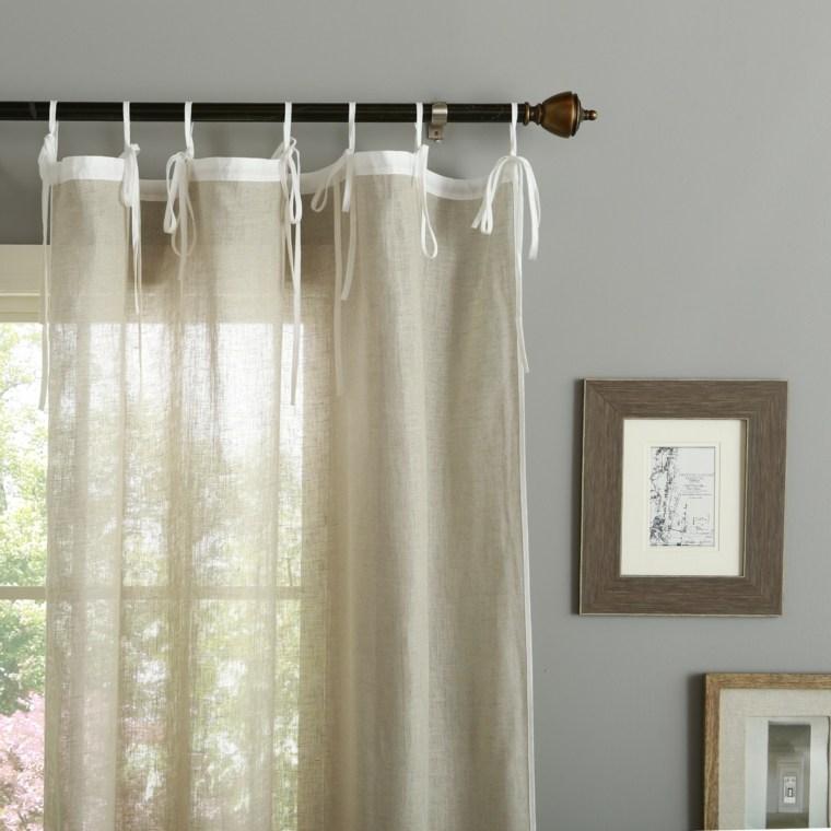 cortina lino original diseno - Cortinas Lino