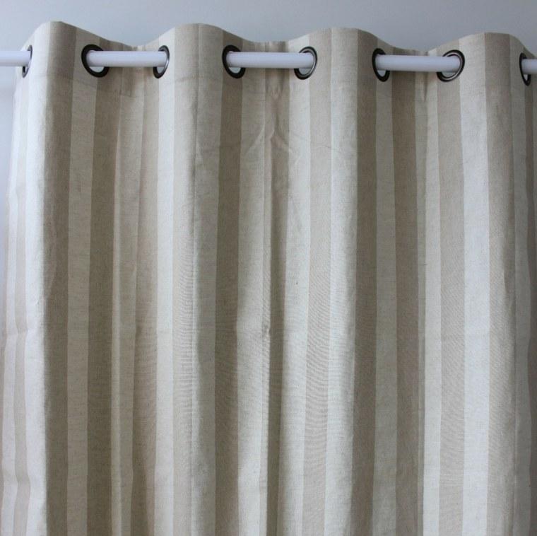 cortina rayas vertivales lino natural