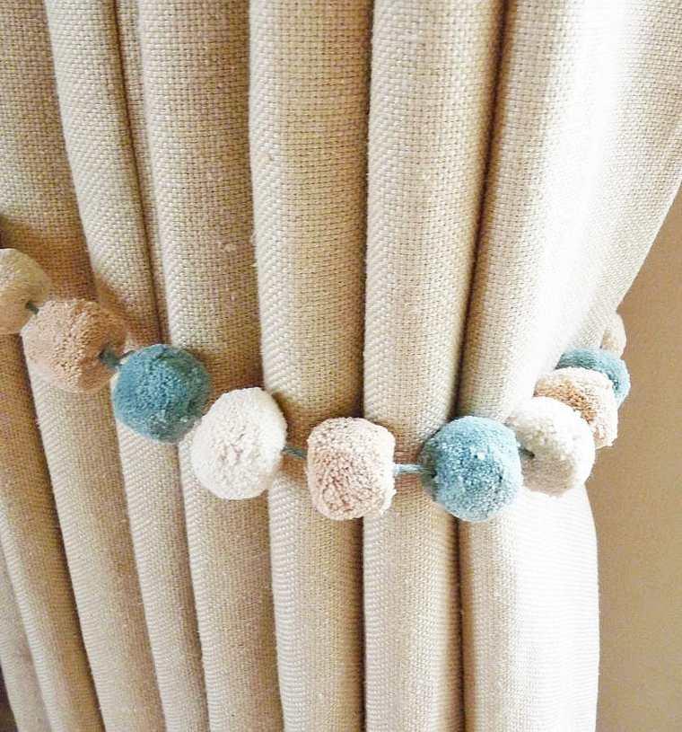 cortinas estupendas deco borlas pompones