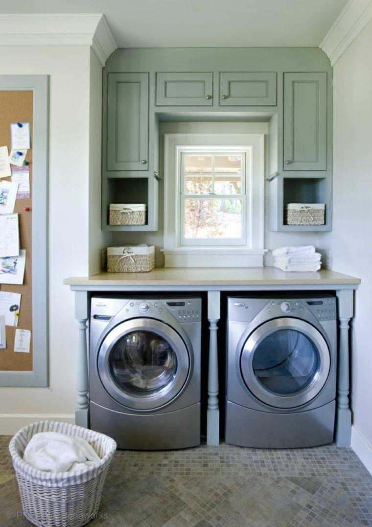 Cuarto de lavado ideas pr cticas para su organizaci n - Secadora encima lavadora ...