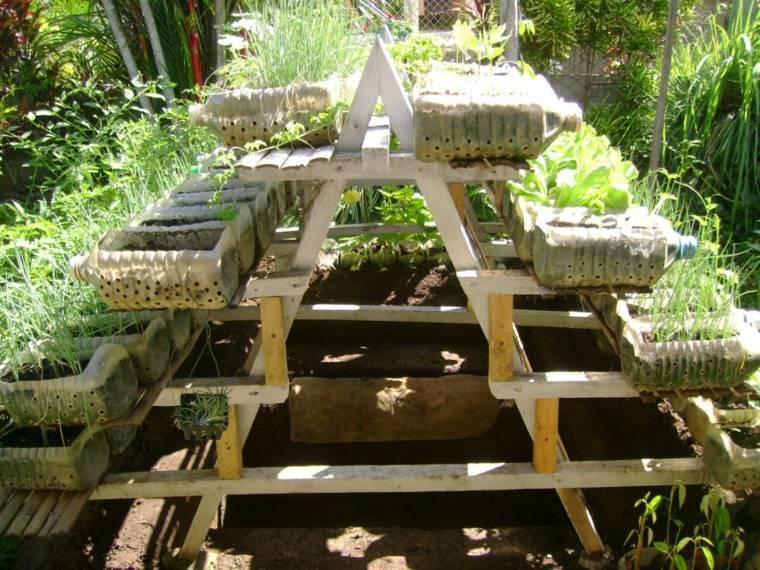cultivos verticales escalera doble