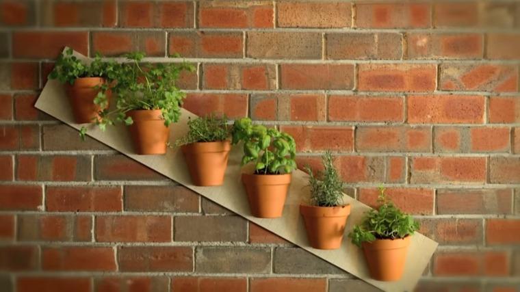 cultivos verticales macetas diagonal