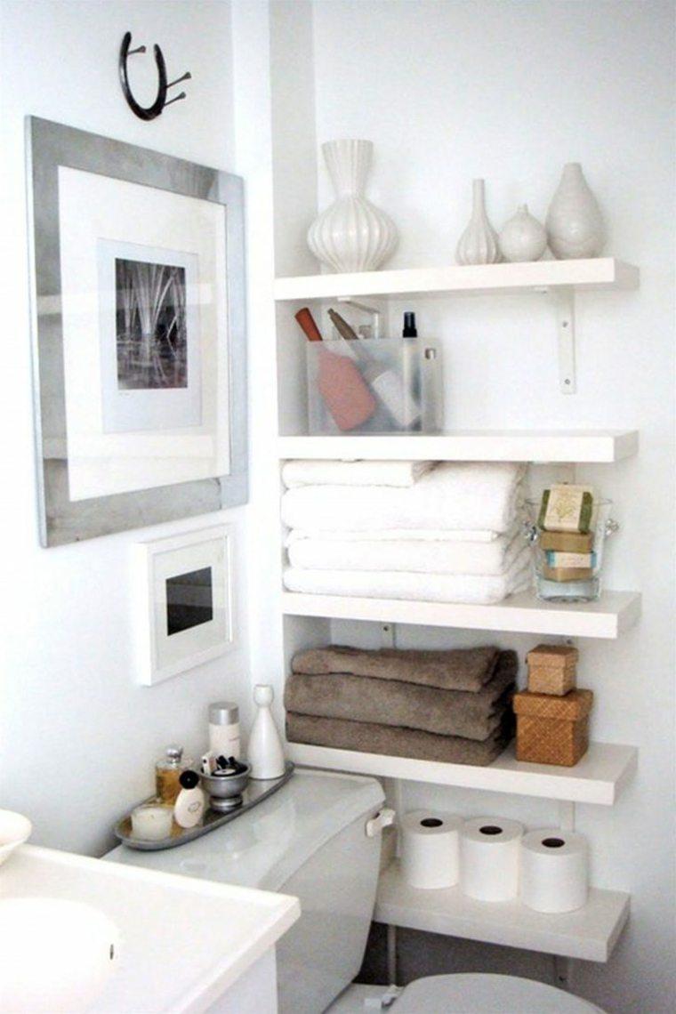 Estantes Para Baños Baratas:el cuarto de baño es también un lugar ideal para la colocación de