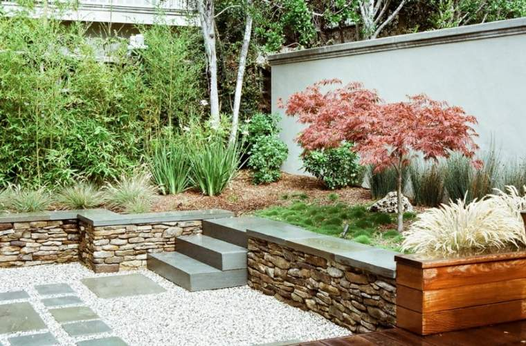 decorar jardines zen modernos