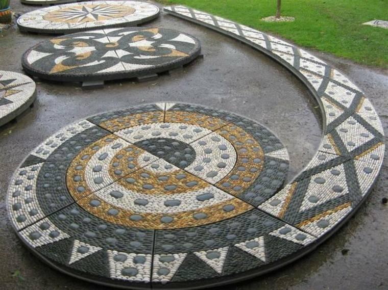 decorar jardines mosaicos originales