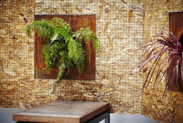 decoración pared panel acero