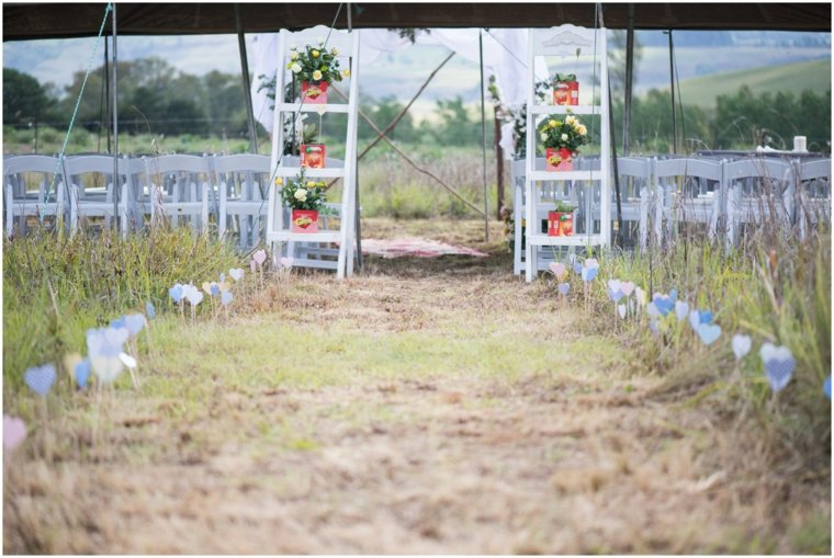 decoracion boda vintage camino ceremonia ideas