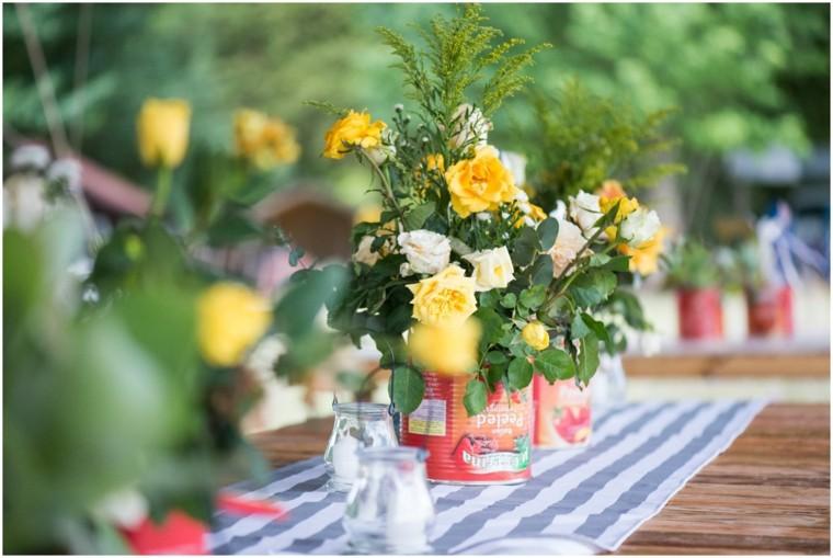 decoracion boda vintage flores frescas centro mesa ideas