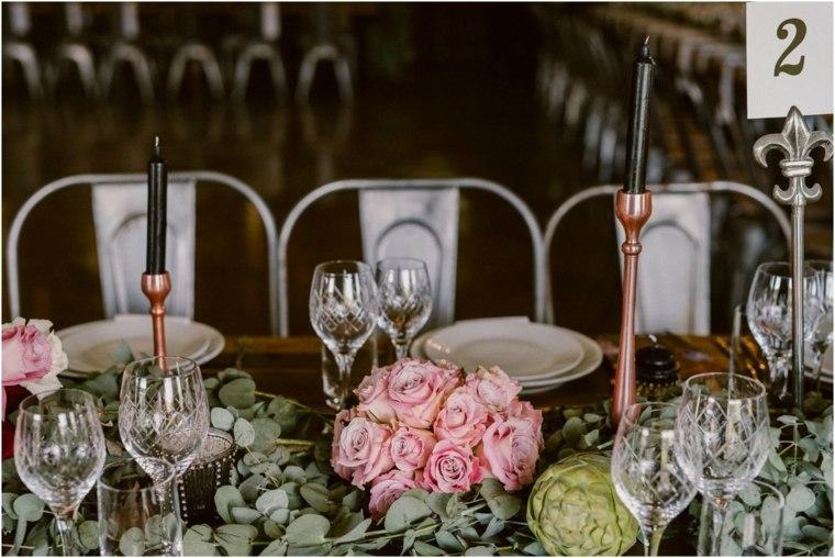 decoracion boda vintage flores hojas centro mesa ideas