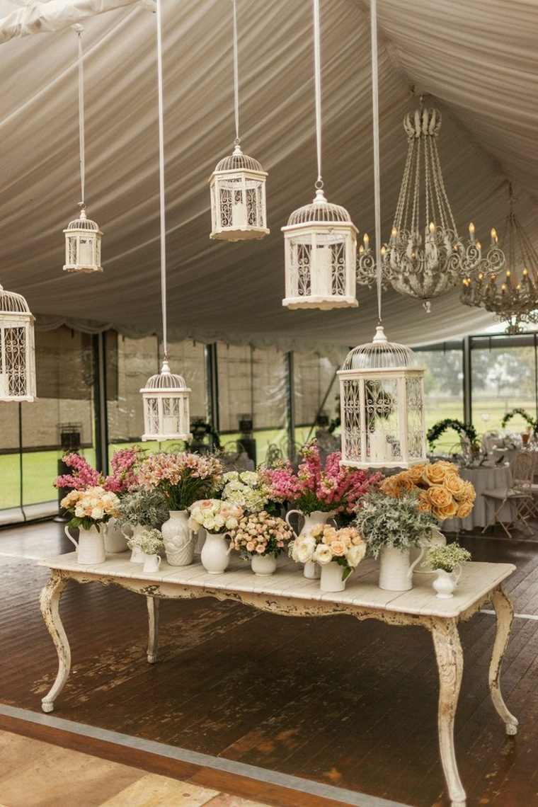 decoracion boda vintage opciones candelabros colgantes ideas