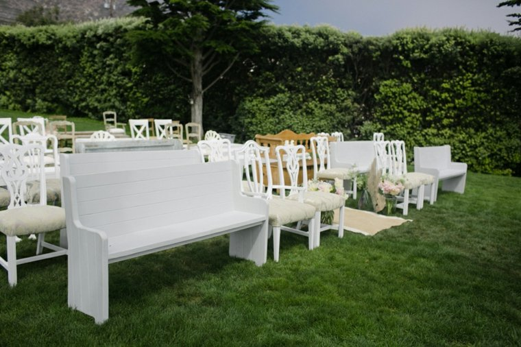decoracion boda vintage opciones distintos muebles sillas bancos ideas