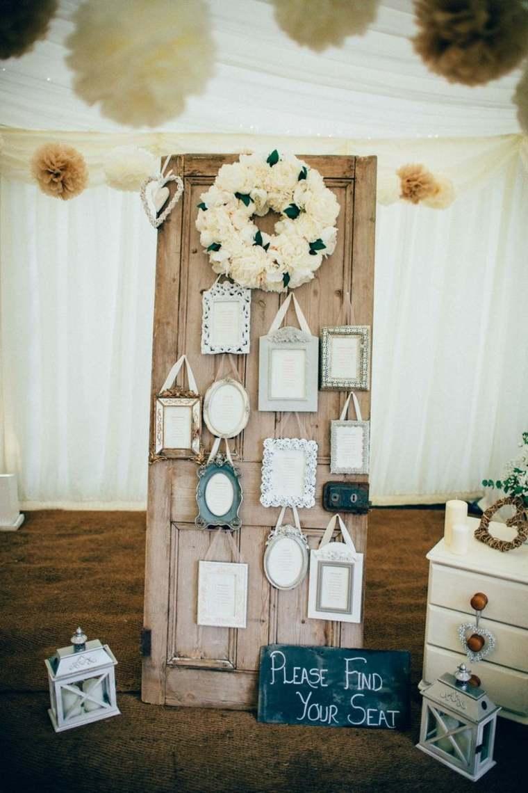 Decoraci n vintage para bodas 27 ideas cl sicas - Decoracion con marcos ...