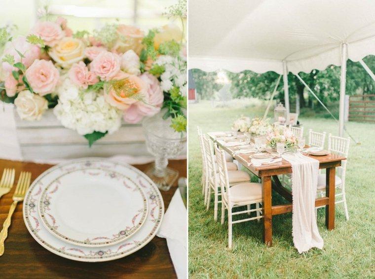decoracion boda vintage opciones romanticas aire libre ideas
