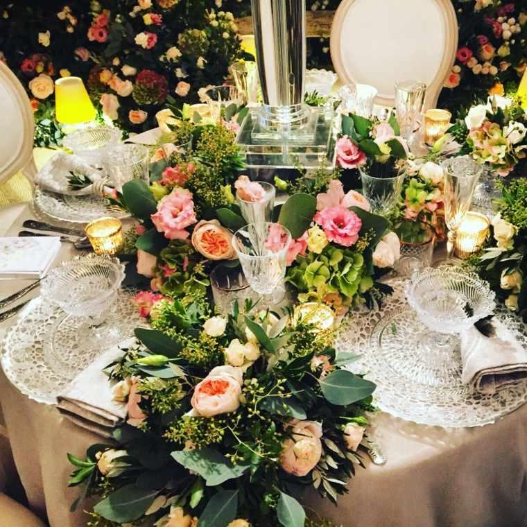 decoracion boda vintage platos cristal estilo vintage ideas