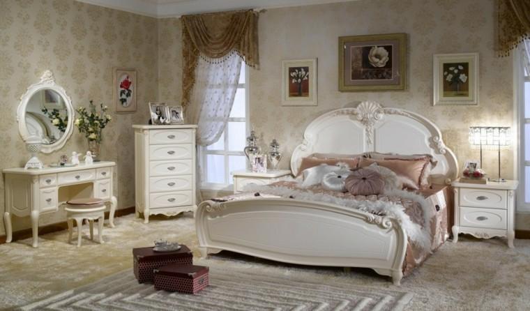 decoración de interiores vintage dormitorio