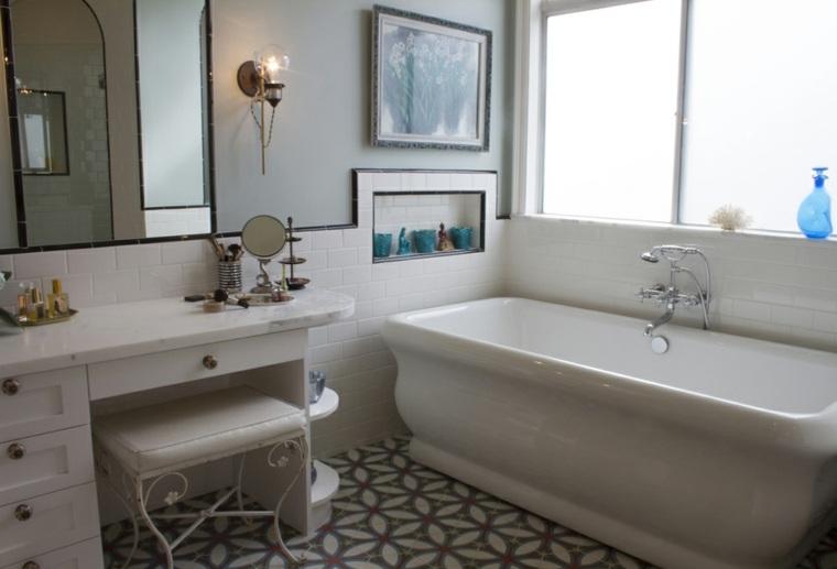 decoración estilo vintage baño