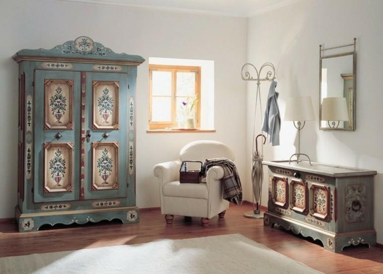 decoración estilo vintage dormitorio