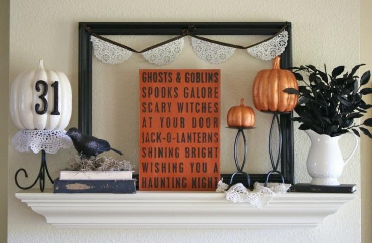 decoracion halloween calabaza colores nueros