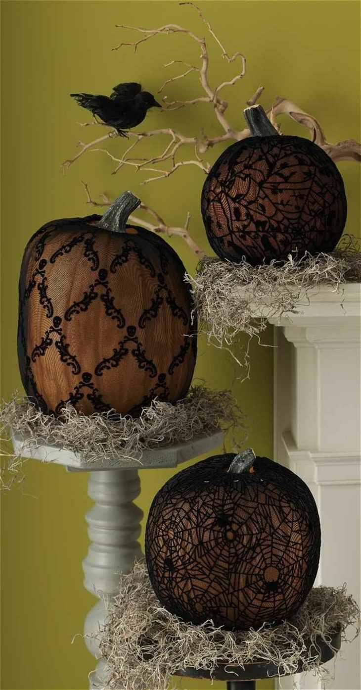 decoracion halloween simples paja jarrones