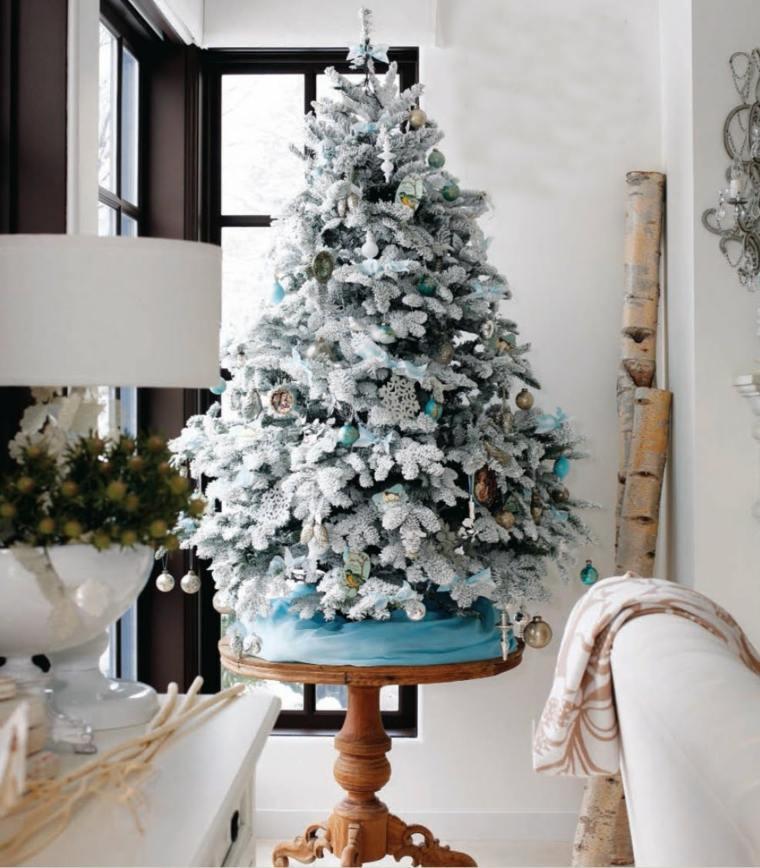 decoracin navidea arbol navidad blanco