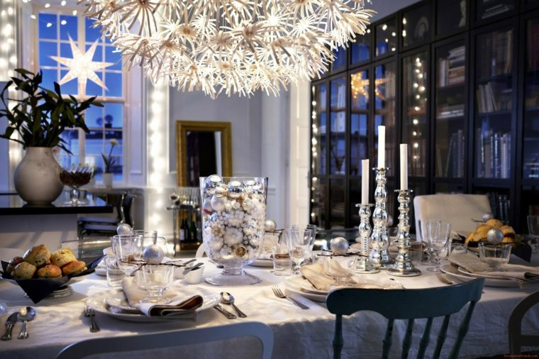 decoración navideña original velas