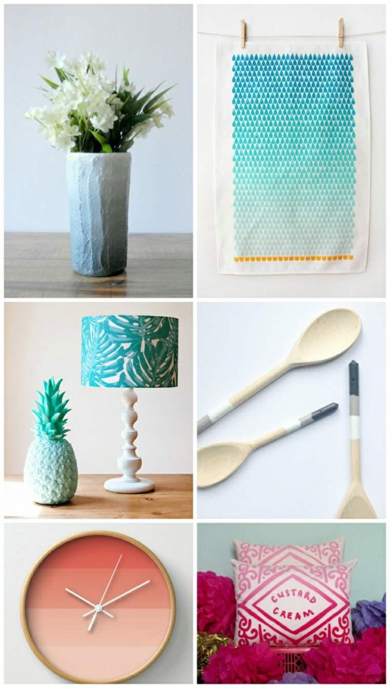 decoracion objetos decorativos colores verano