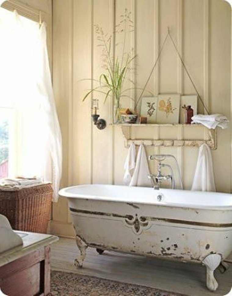 decoración retro baño