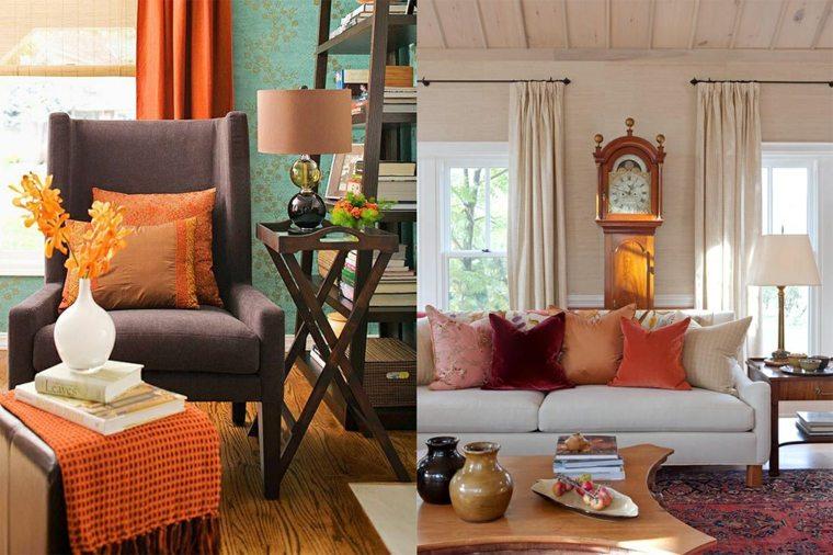 diseños interiores tonos naranja