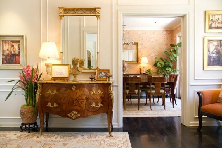 decoración vintage casera mirador pasillo