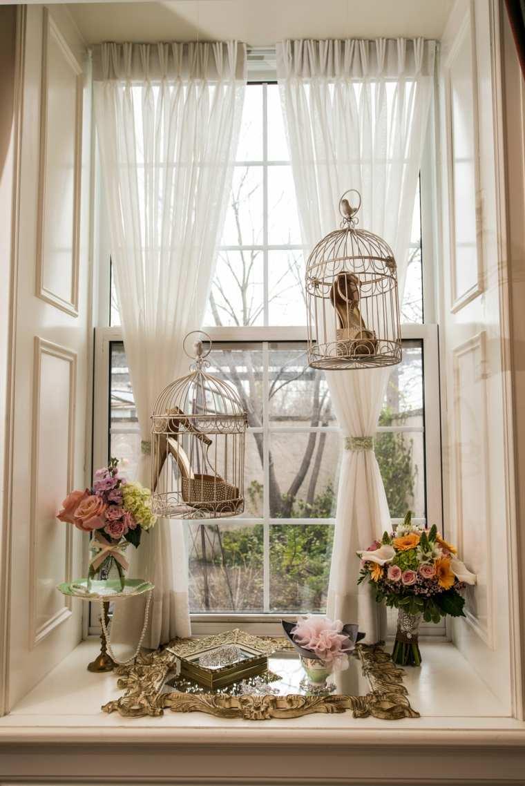 decoración vintage casera jaulas