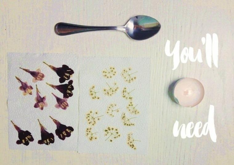 decorar objetos flores secas
