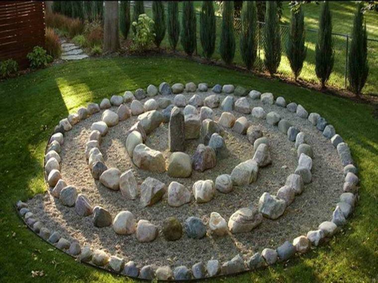 decorar piedras círculo piedras