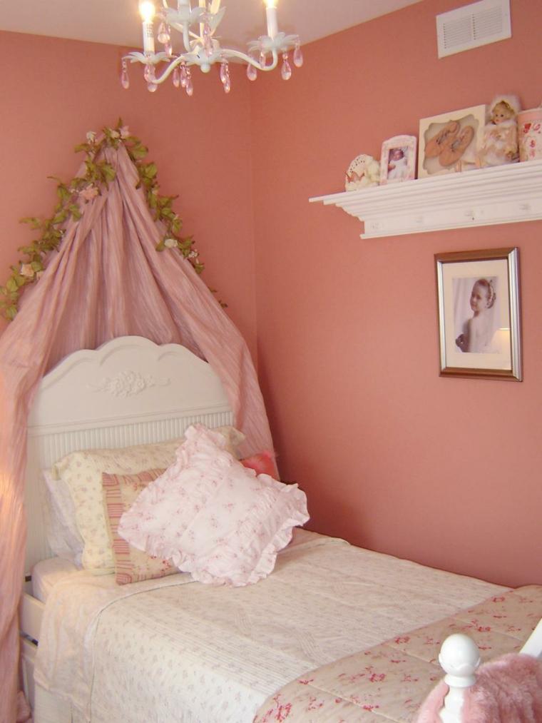 decoracion estilo shabby chic rosa