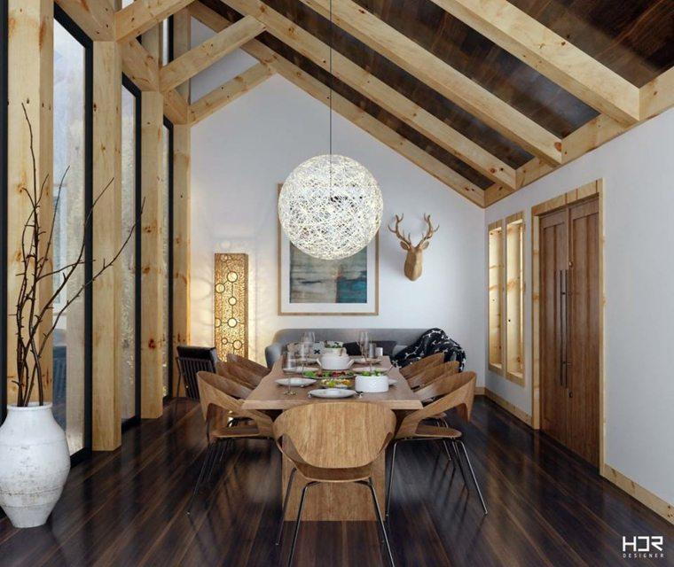 diseño comedor madera HDR Designer