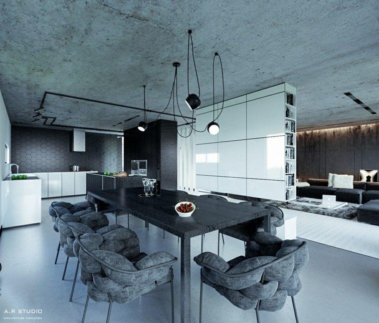 diseño moderno comedor industrial