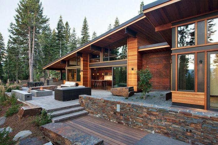 diseño multinivel rocas naturales maderas