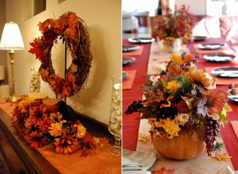 diseños decoraciones flores otoño