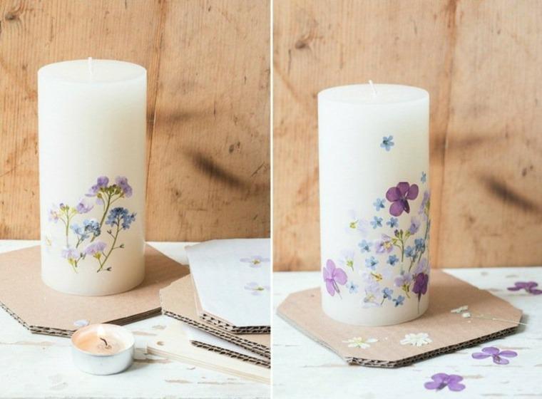 cómo decorar flores velas