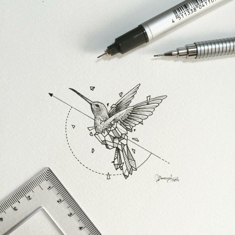 diseno pájaro colibri kerby rosanes