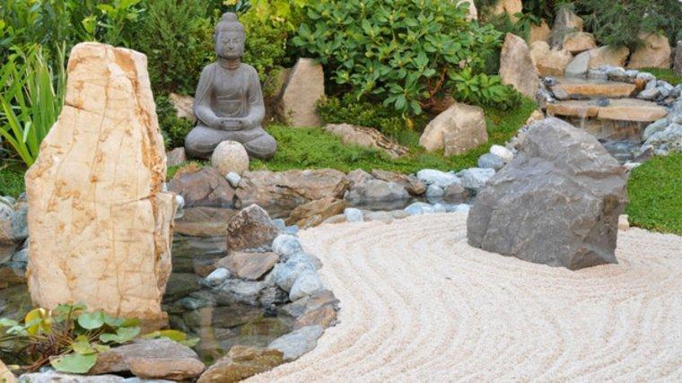 Jardines zen de estilo minimalista tranquilidad y armon a - Arena jardin zen ...