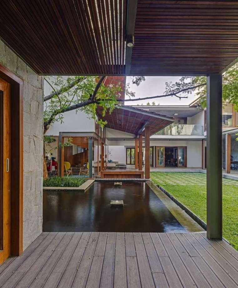 diseno jardin moderno estanque Khosla Associates ideas