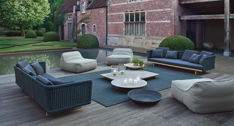 diseno jardin moderno sofa paola lenti ideas