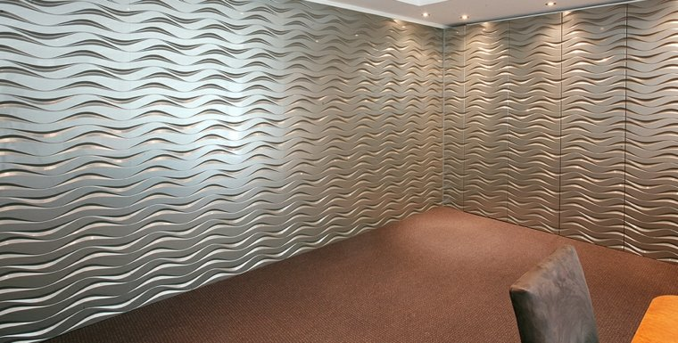 Texturas con relieves descubre las paredes en 3d for Mosaicos para paredes interiores