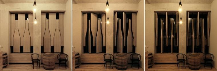 diseno persiana madera forma botella