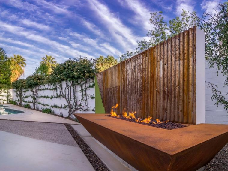 diseno pozo fuego estilo moderno