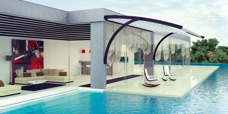 diseno jardin moderno piscina moderno