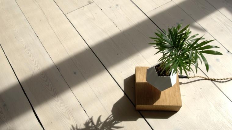 diseno maceta flotante base madera