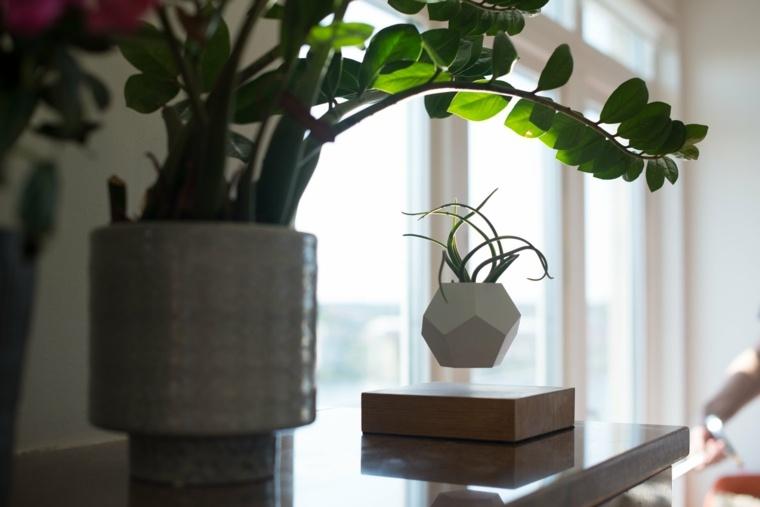 diseno planta macetero volando